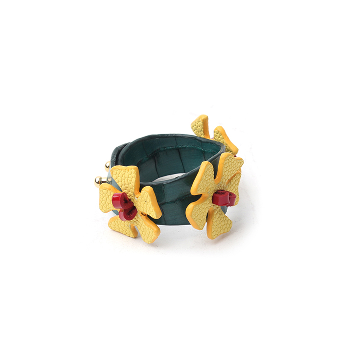 Bracelet Hawaiian yellow hibiscus