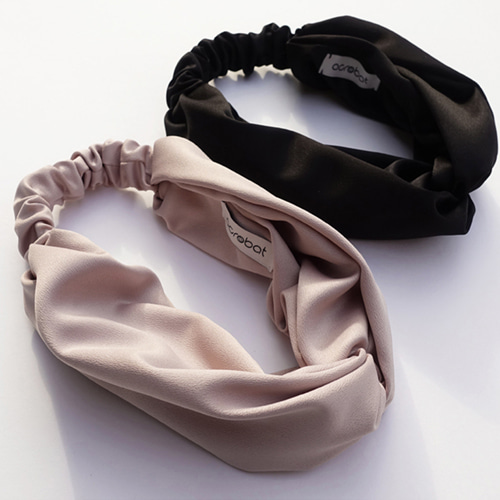 Hair Turban : Indypink, Black